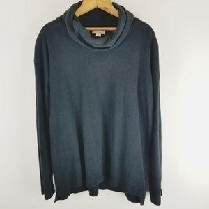 Pure Jill black cowl turtle neck sweater XS